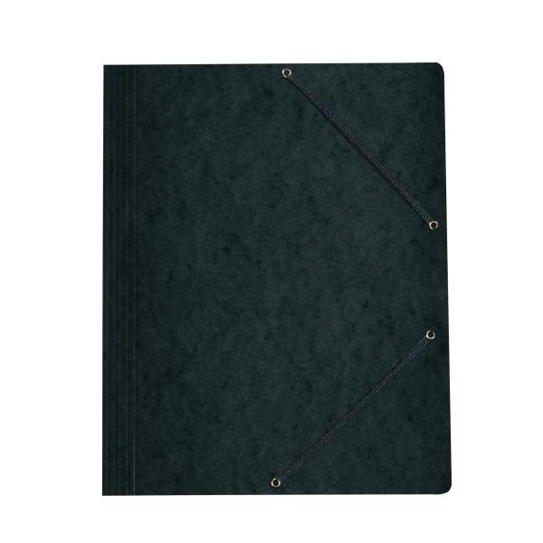 Einschlagmappe mit Gummizug A4 Quality schwarz