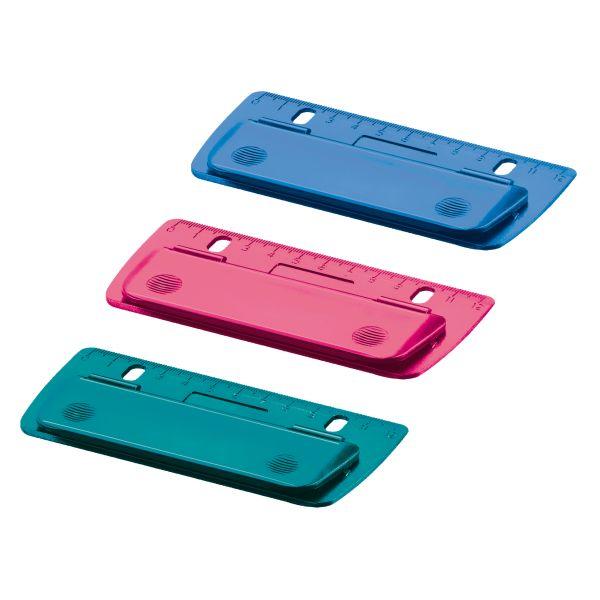 Mini-Taschenlocher Color Blocking sort. zum Einheften und für unterwegs