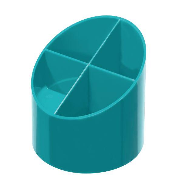 Köcher rund hochglanz caribbean turquoise 4 Fächer