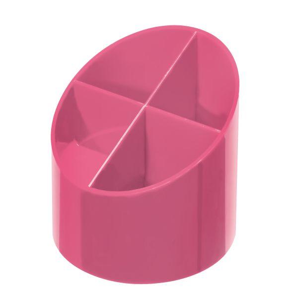 Köcher rund hochglanz indonesia pink 4 Fächer
