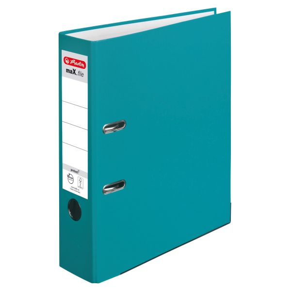 Ordner maX.file protect A4 8cm caribbean turquoise
