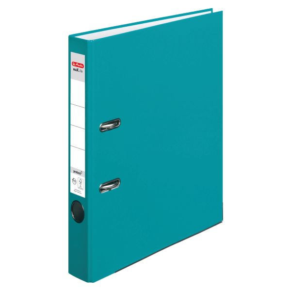 Ordner maX.file protect A4 5cm caribbean turquoise