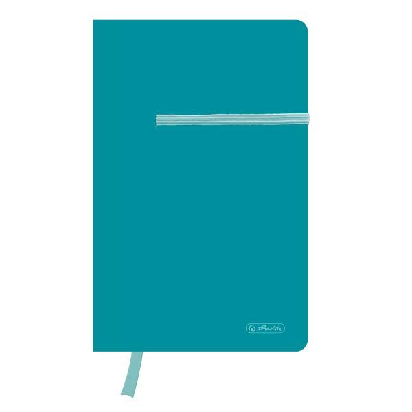 Notizbuch Young A5 88 Blatt kariert caribbean turquoise mit Leseband