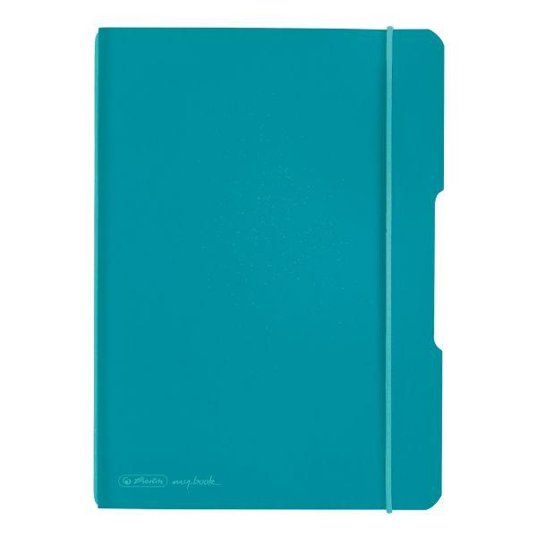 Notizheft flex PP A5,40 Blatt, kariert caribbean turquoise, my.book