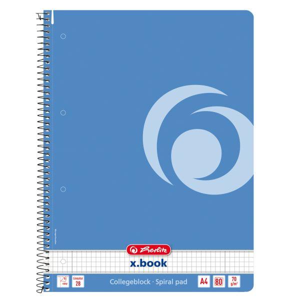 Spiralblock A4 80 Blatt Lineatur 28 Motiv baltic blue