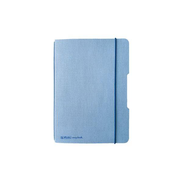 Notizheft flex Leinen A6,40 Blatt, kariert hellblau, my.book