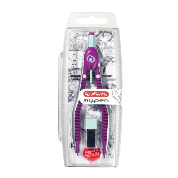 Schnellverstellzirkel my.pen lila/minze in Hängepackung