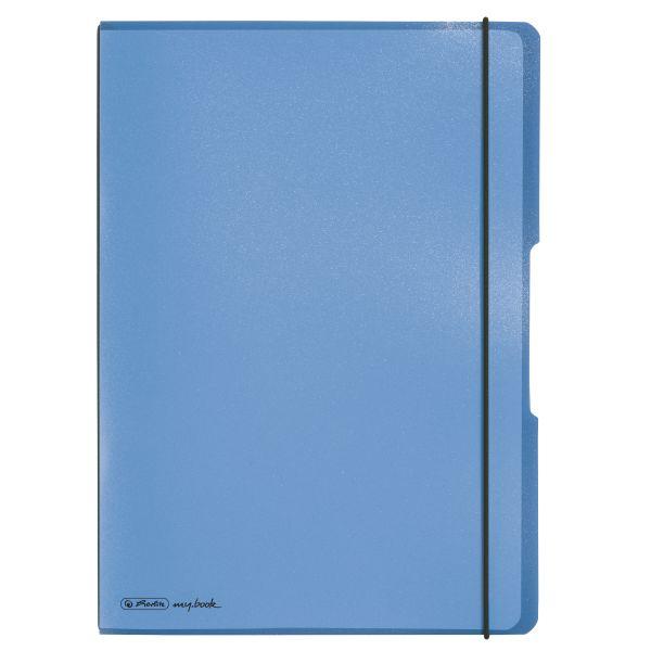 Notizheft flex PP A4,40Blatt kariert und 40Blatt liniert,blau,gelocht, Mikroperforation my.book