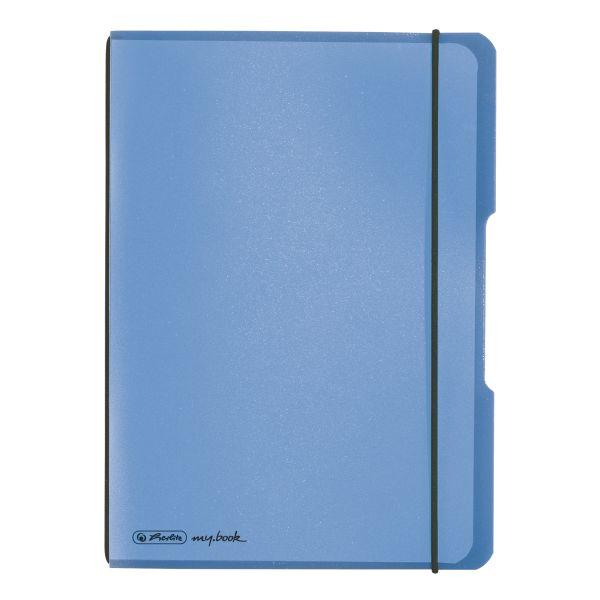 Notizheft flex PP A5,40 Blatt, kariert blau, my.book