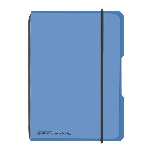 Notizheft flex PP A6,40 Blatt, kariert blau, my.book