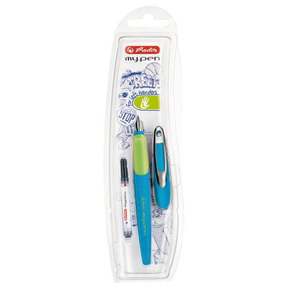 Schulfüllhalter my.pen L-Feder blau/neon