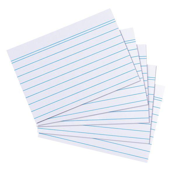 Karteikarte A8 liniert weiß 170g 200er Packung