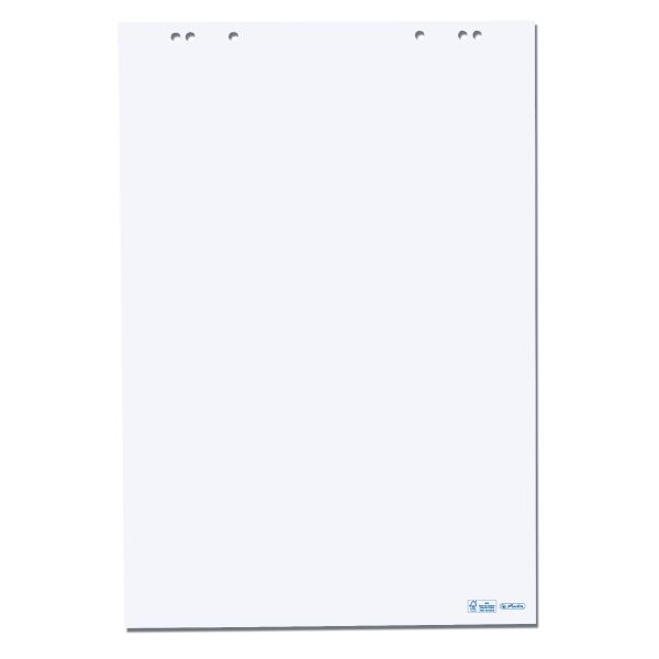 Flipchartblock blanko 20 Blatt 68x99 cm Herlitz FSC Mix