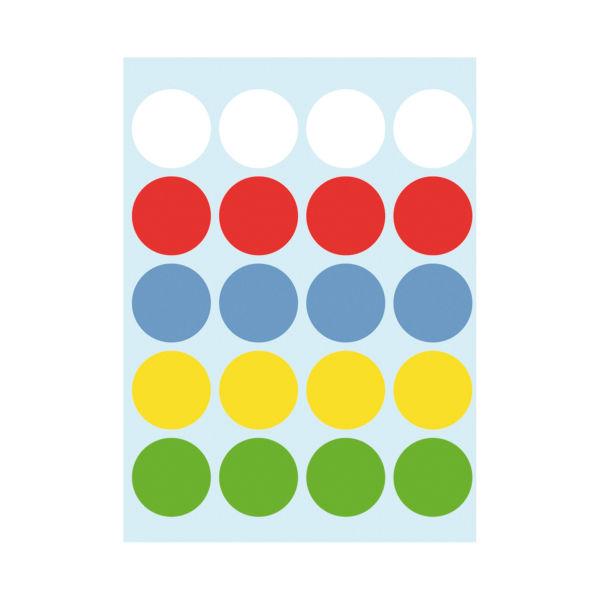 Markierungspunkte farbig, 19mm selbstklebend 60 Stück