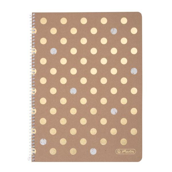 Spiralblock A4 80 Blatt Sonderlineatur kariert, Pure Glam