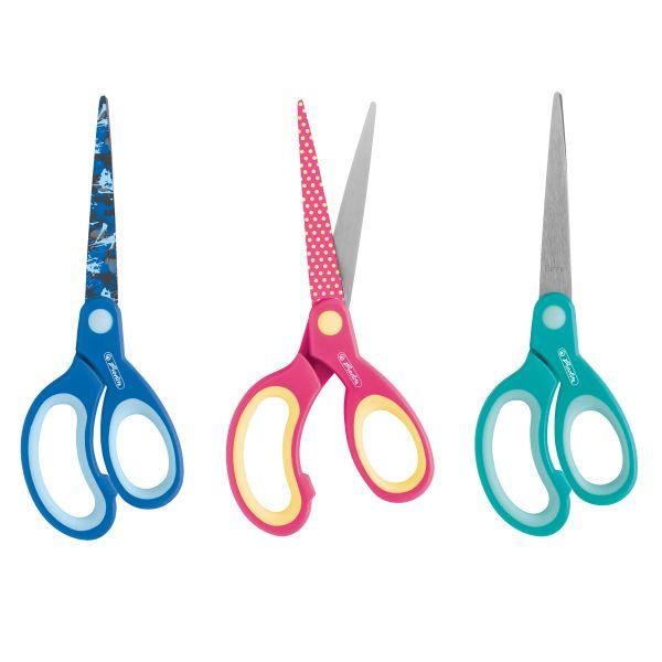 Design Bastelschere spitz Linkshänder, farbig sortiert