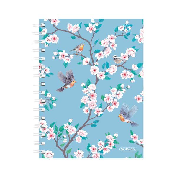 Spiralboutiquebuch A5 Ladylike 100 Blatt kariert Motiv Birds
