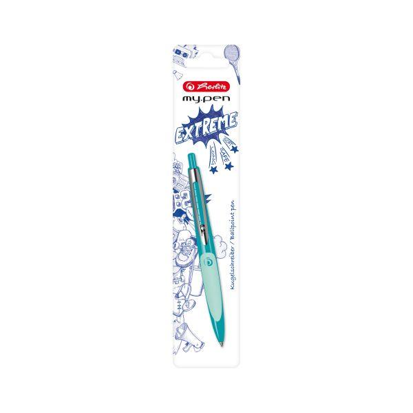 Kugelschreiber my.pen dgrün/hgrün
