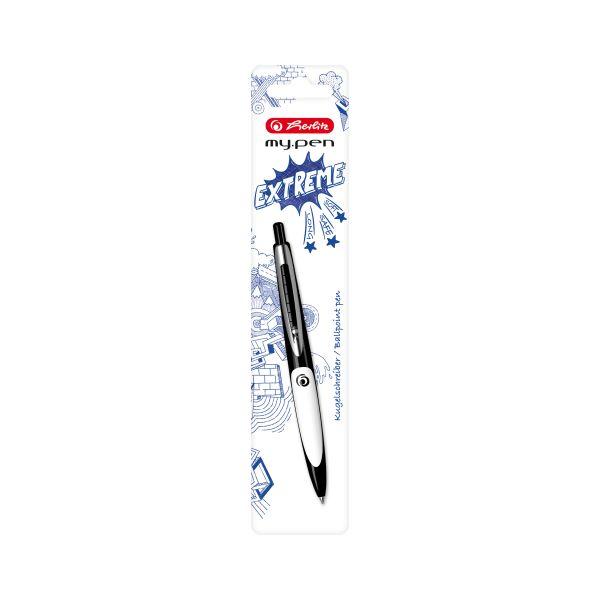 Kugelschreiber my.pen schwarz/weiß