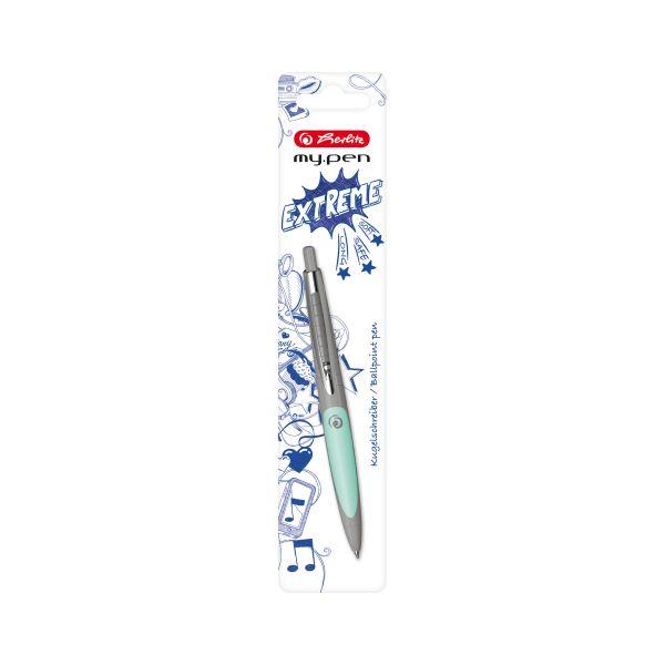 Kugelschreiber my.pen grau/minze