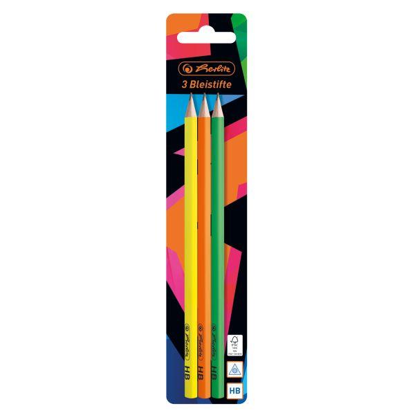 Bleistift Neon Art 3 Stück