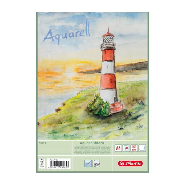 Aquarellblock A4 20 Blatt 150g/m² FSC