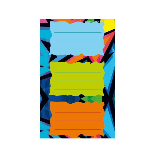Buchetiketten Neon Art FSC 3 Bögen à 3 Stück selbstklebend