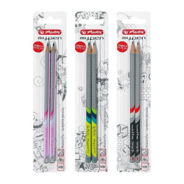 Bleistift my.pen HB sortiert 2 Stück auf Blisterkarte