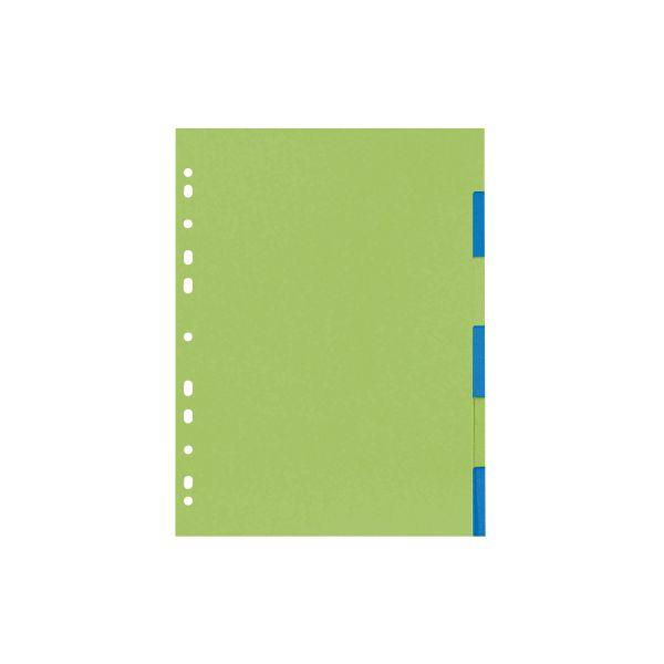 Kartonregister A4 6-tlg.2-farb.GREENline