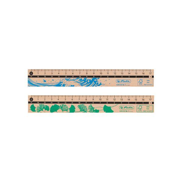 Lineal 17cm, aus Holz, FSC 100%