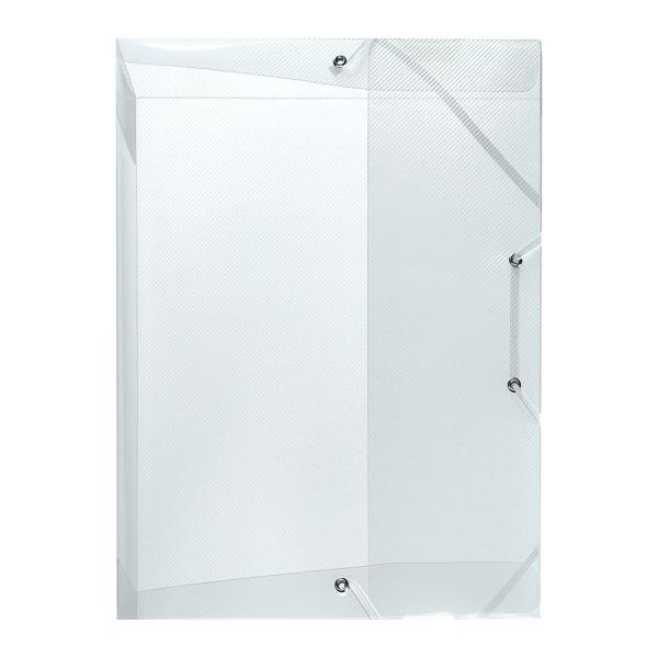 Κουτί λάστιχο PP Α4 ράχη 4cm διαφανές