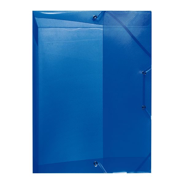 Κουτί λάστιχο PP Α4 ράχη 4cm μπλε