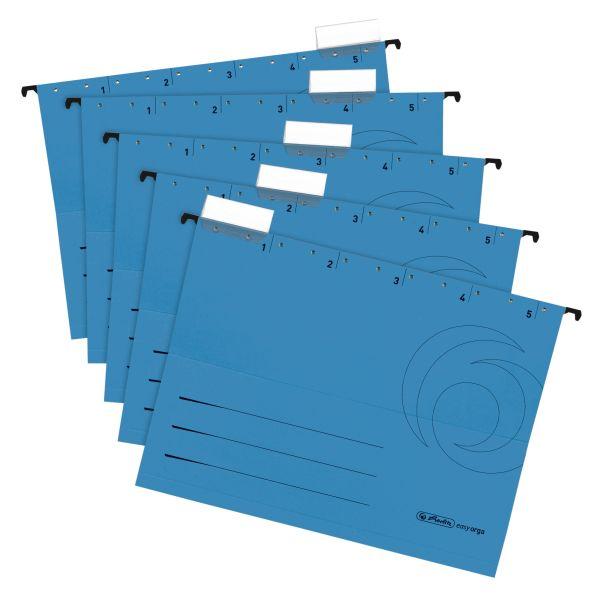 Φάκελοι κρεμαστοί Α4 ανοιχτά πλαϊνά 5 τμχ. μπλε