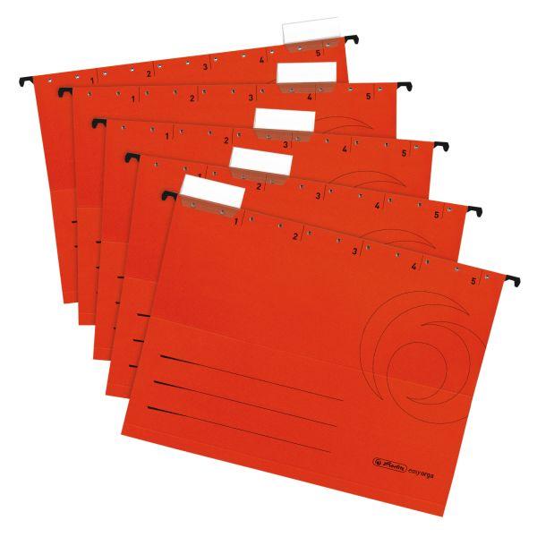 Φάκελοι κρεμαστοί Α4 ανοιχτά πλαϊνά 5 τμχ. κόκκινοι