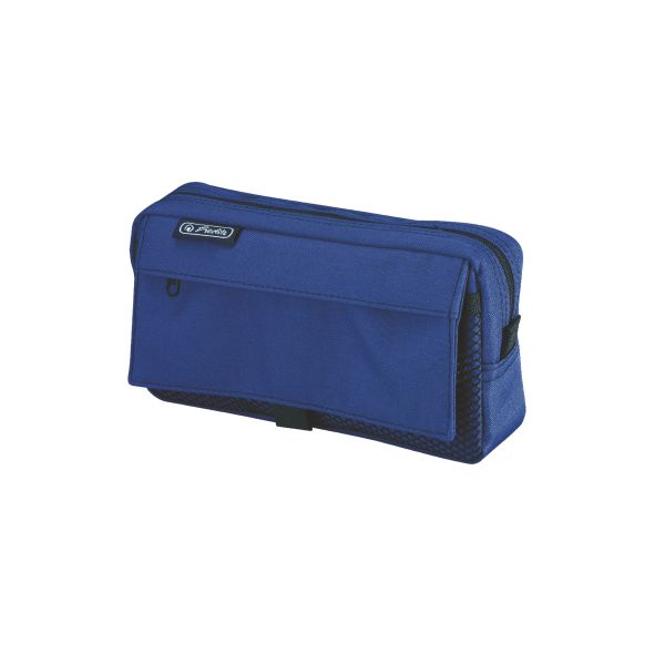 pencil pouch with 2 add.bags blue
