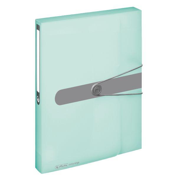 document box A4 PP transparent mint