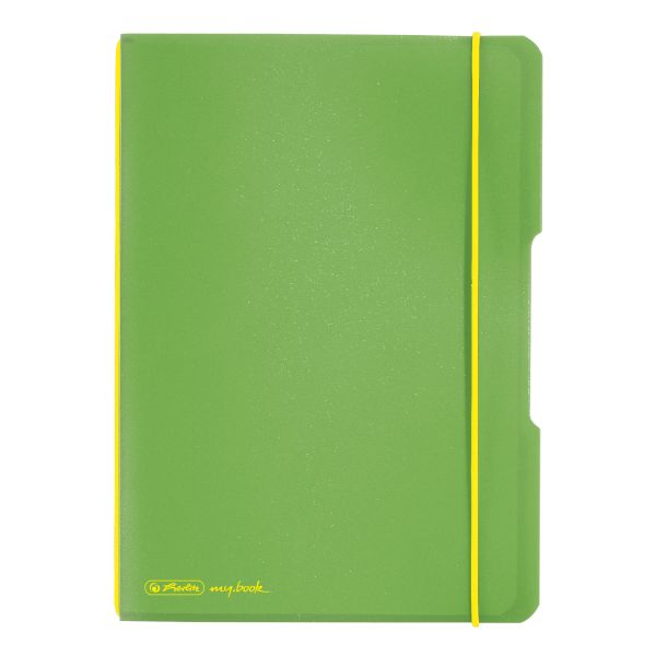 Notebook flex PP A5, 40 sheets, squared light green, my.book