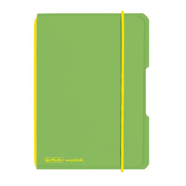 Notebook flex PP A6, 40 sheets, squared light green, my.book