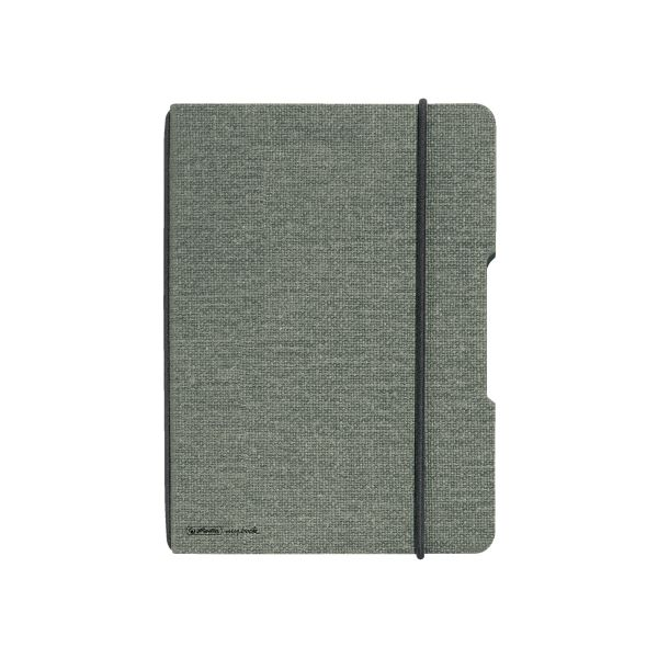 Notebook flex canvas A5,40 sheets, squared grey, my.book