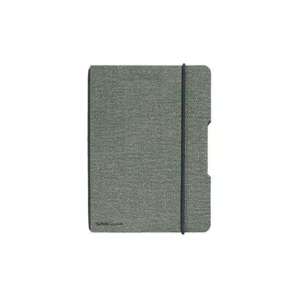 Notebook flex canvas A6,40 sheets, squared grey, my.book