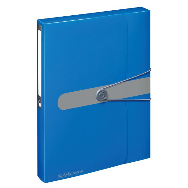 document box A4 PP opaque blue