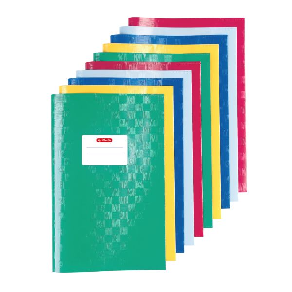exercise book cover A4 structure of bast assorted colours