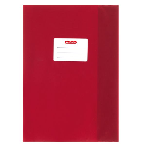 exercise book cover A4 PP structure of bast red