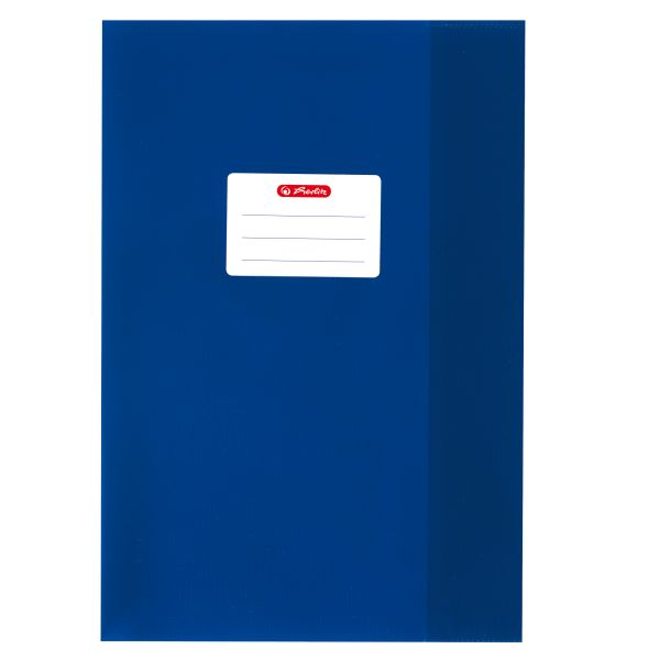 exercise book cover A4 PP structure of bast dark blue