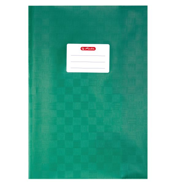 exercise book cover A4 PP structure of bast dark green