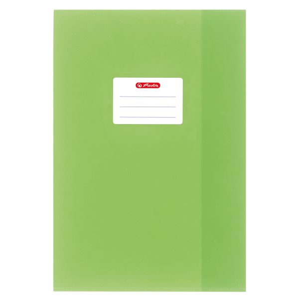 exercise book cover A4 structure of bast, light green