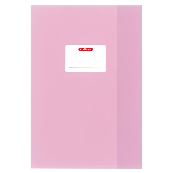exercise book cover A4 PP structure of bast, light pink