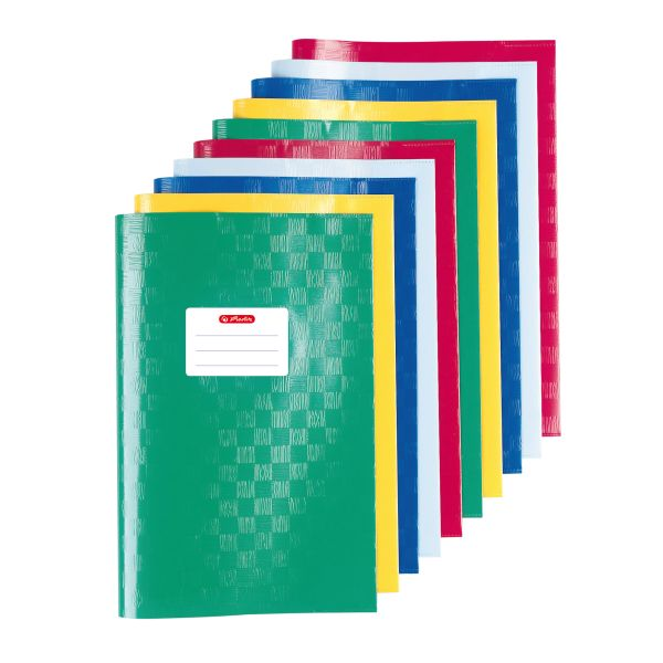 exercise book cover A5 structure of bast assorted colours