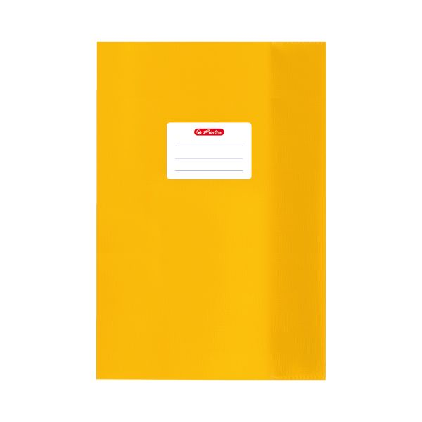 exercise book cover A5 PP structure of bast yellow