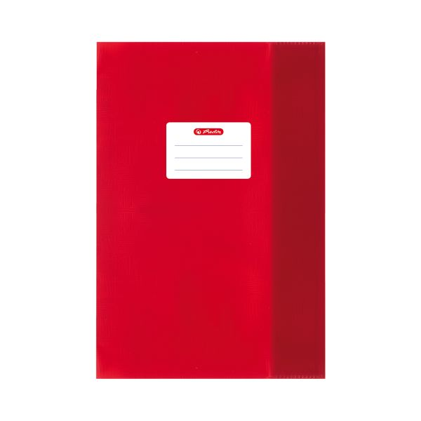 exercise book cover A5 PP structure of bast red